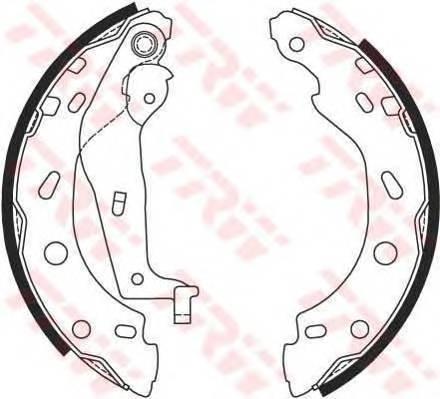 Тормозные колодки Тормозные колодки барабанные ABE арт. GS8685
