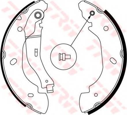 Тормозные колодки Тормозные колодки барабанные ABE арт. GS8689