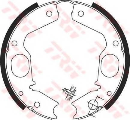 Тормозные колодки Тормозные колодки барабанные ABE арт. GS8695