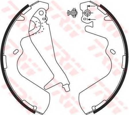 Тормозные колодки Тормозные колодки барабанные ABE арт. GS8696