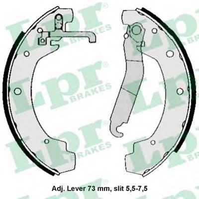 Тормозные колодки Тормозные колодки барабанные ABE арт. 04570