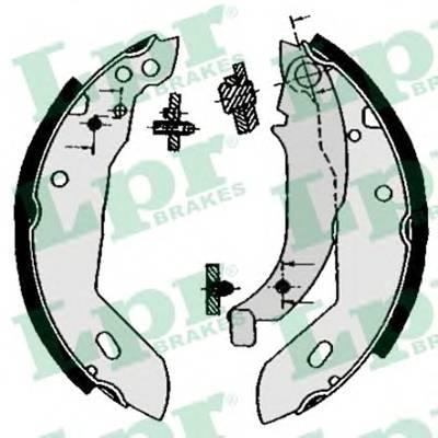 Тормозные колодки Гальмівні колодки, барабанні ABE арт. 04670