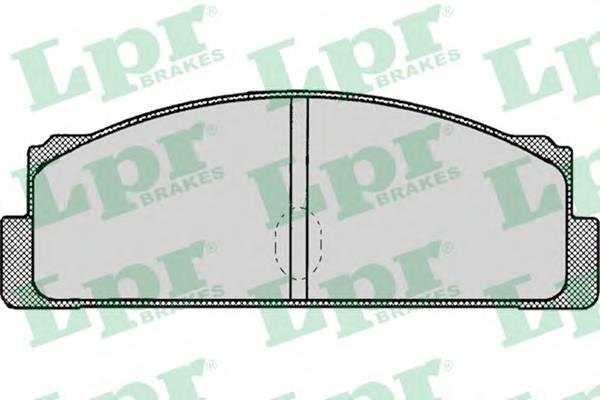 Тормозные колодки Тормозные колодки дисковые LPR арт. 05P002