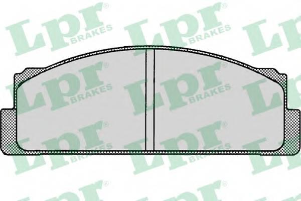 Тормозные колодки Тормозные колодки дисковые LPR арт. 05P003