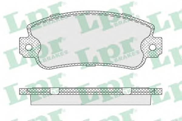 Гальмівні колодки, дискові ABE арт. 05P007