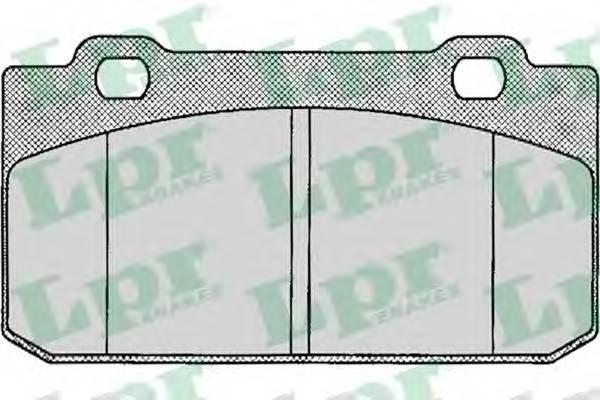 Тормозные колодки SF2331 Тормозные колодки PAGID арт. 05P020