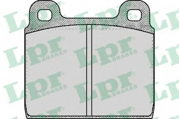 Тормозные колодки Тормозные колодки дисковые LPR арт. 05P026