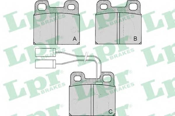 Тормозные колодки SF2345 Тормозные колодки PAGID арт. 05P030