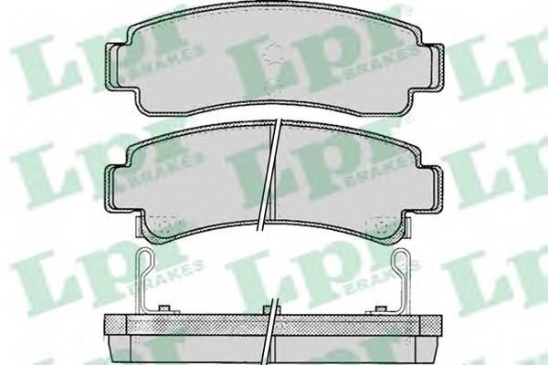 Тормозные колодки Тормозные колодки дисковые PAGID арт. 05P088