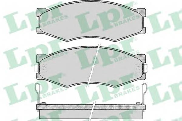 Тормозные колодки Тормозные колодки дисковые ABE арт. 05P092