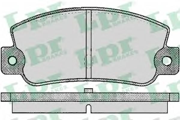 Тормозные колодки Тормозные колодки дисковые LPR арт. 05P095