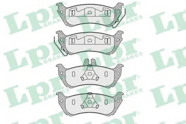 Тормозные колодки Тормозные колодки дисковые PAGID арт. 05P1000