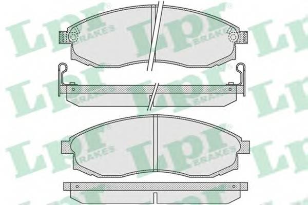 Тормозные колодки Тормозные колодки дисковые PAGID арт. 05P1030