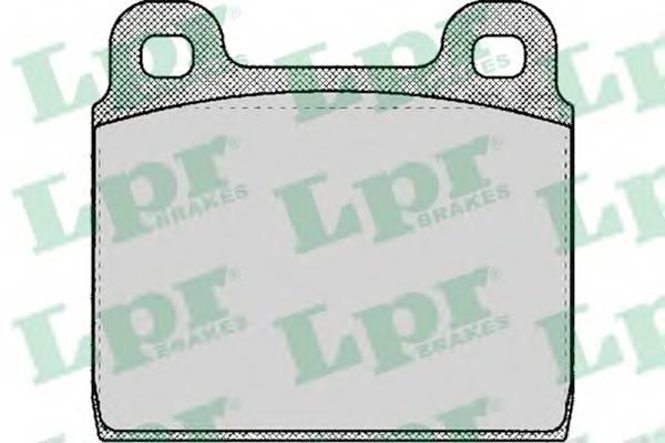 Тормозные колодки Тормозные колодки дисковые LPR арт. 05P109