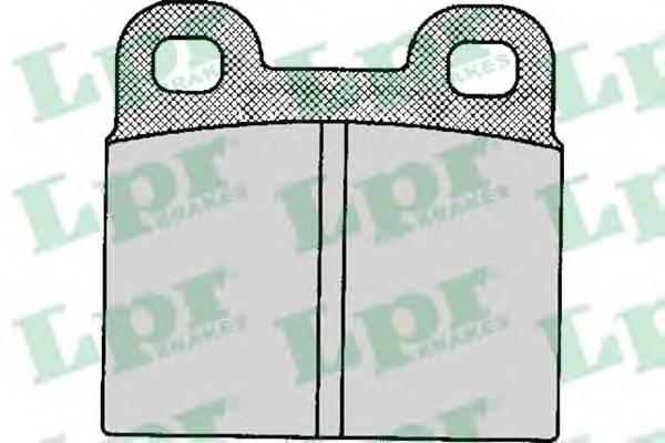 Тормозные колодки Тормозные колодки дисковые LPR арт. 05P111