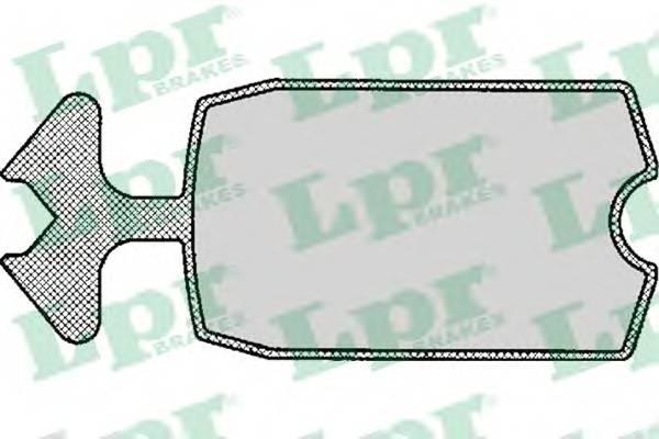 Тормозные колодки Тормозные колодки дисковые LPR арт. 05P115