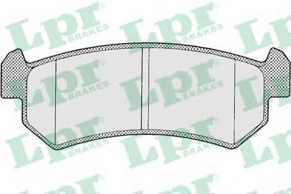 Тормозные колодки Тормозные колодки задние Lacetti PAGID арт. 05P1199