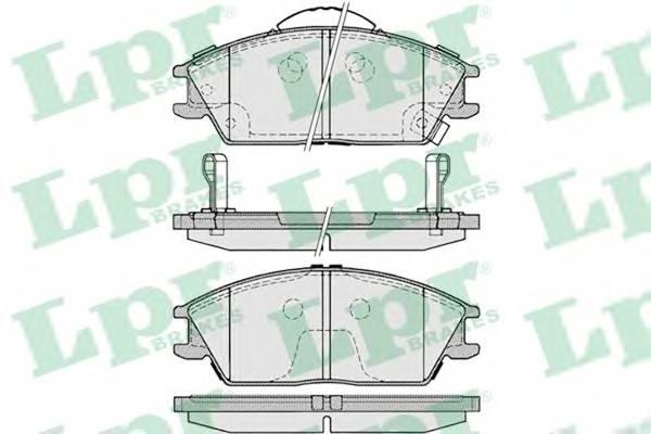 Тормозные колодки Тормозные колодки дисковые ABE арт. 05P1222