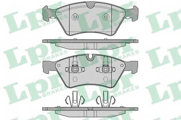 Тормозные колодки Тормозные колодки дисковые ABE арт. 05P1253