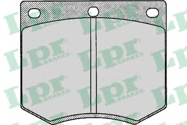 Тормозные колодки Тормозные колодки дисковые LPR арт. 05P126