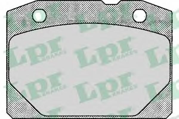 Тормозные колодки Тормозные колодки дисковые LPR арт. 05P127