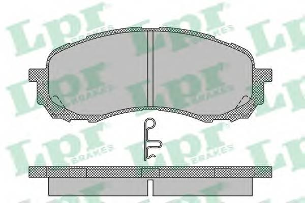 Тормозные колодки Тормозные колодки дисковые ABE арт. 05P1454