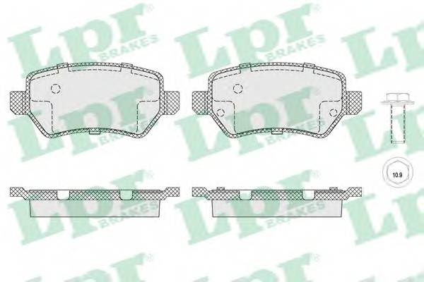 Тормозные колодки Тормозные колодки PAGID арт. 05P1650