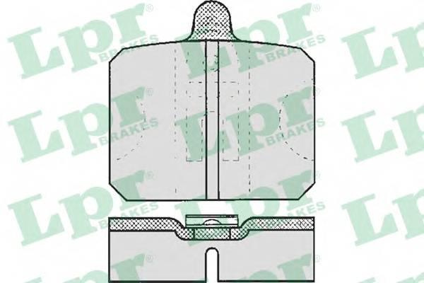 Тормозные колодки Тормозные колодки дисковые LPR арт. 05P170