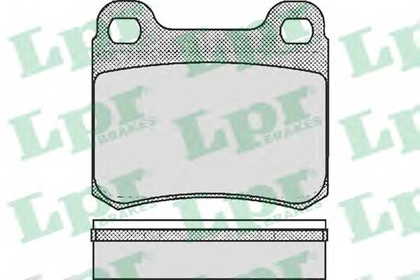 Тормозные колодки Тормозные колодки дисковые LPR арт. 05P181
