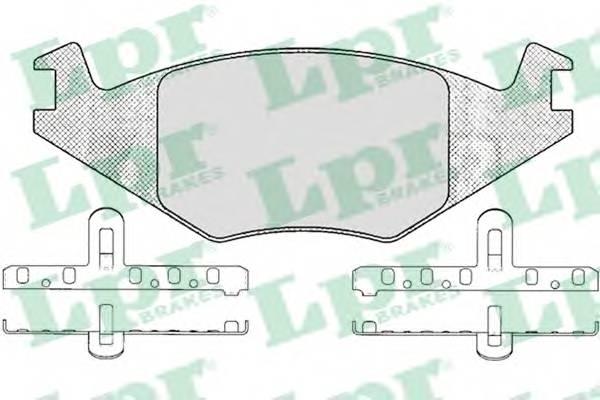 Тормозные колодки Тормозные колодки дисковые LPR арт. 05P223