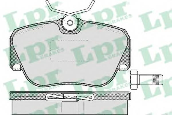 Гальмівні колодки, дискові PAGID арт. 05P302
