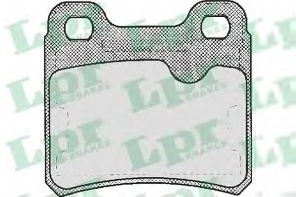 Тормозные колодки Тормозные колодки дисковые LPR арт. 05P333