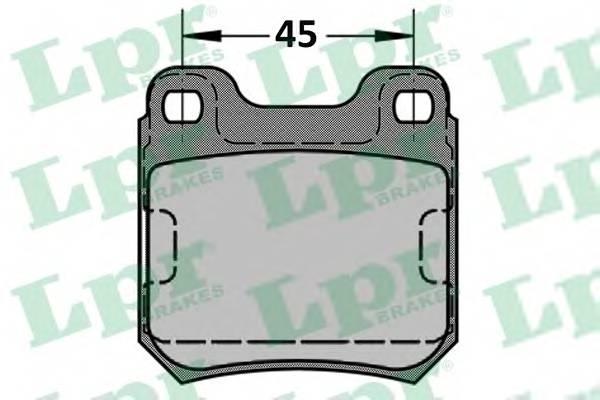 Тормозные колодки Тормозные колодки дисковые LPR арт. 05P334
