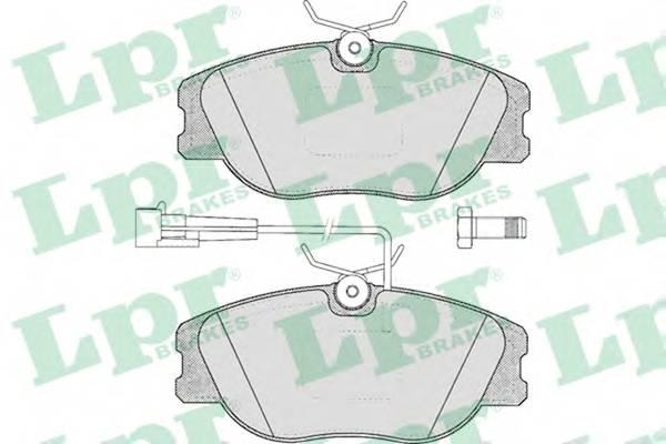 Тормозные колодки SF2605 Тормозные колодки ABE арт. 05P344