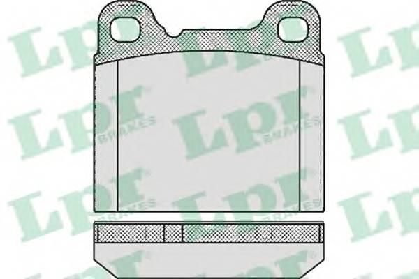 Тормозные колодки Тормозные колодки дисковые LPR арт. 05P362