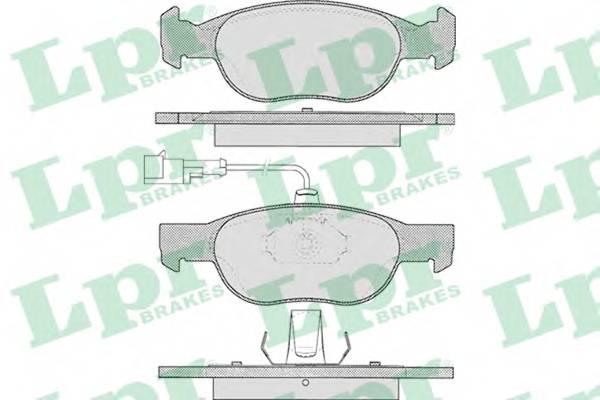 Тормозные колодки Тормозные колодки дисковые ABE арт. 05P424