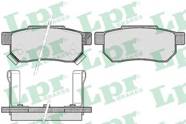 Тормозные колодки Тормозные колодки дисковые PAGID арт. 05P507