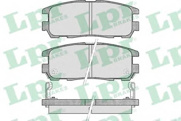 Тормозные колодки SF2802 Тормозные колодки PAGID арт. 05P524