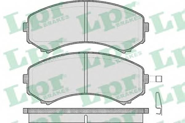 Тормозные колодки Тормозные колодки дисковые ABE арт. 05P569