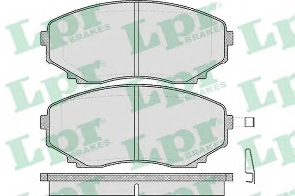 Тормозные колодки Тормозные колодки дисковые ABE арт. 05P570