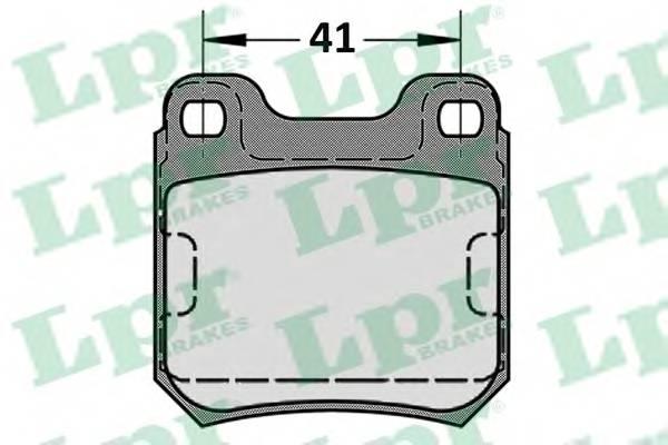 Тормозные колодки Тормозные колодки дисковые LPR арт. 05P584