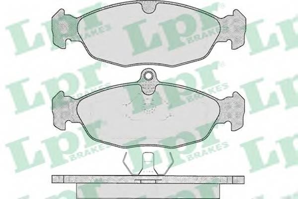 Тормозные колодки SF2649 Тормозные колодки передние Lanos 1.5i, -99 PAGID арт. 05P599