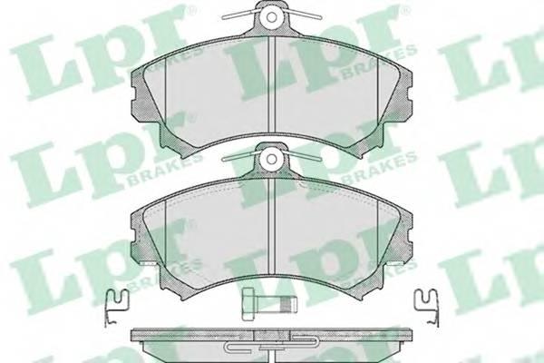 Тормозные колодки Тормозные колодки дисковые ABE арт. 05P615