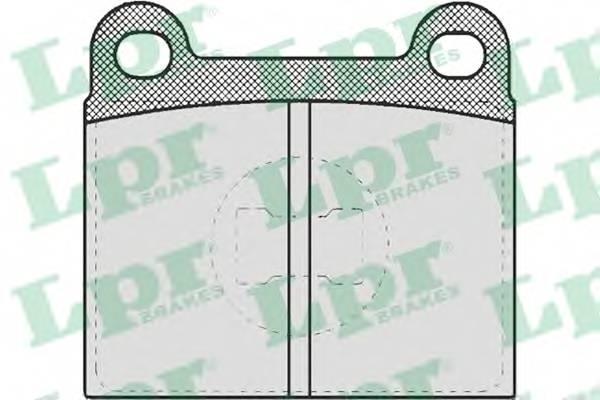 Тормозные колодки Тормозные колодки дисковые LPR арт. 05P659