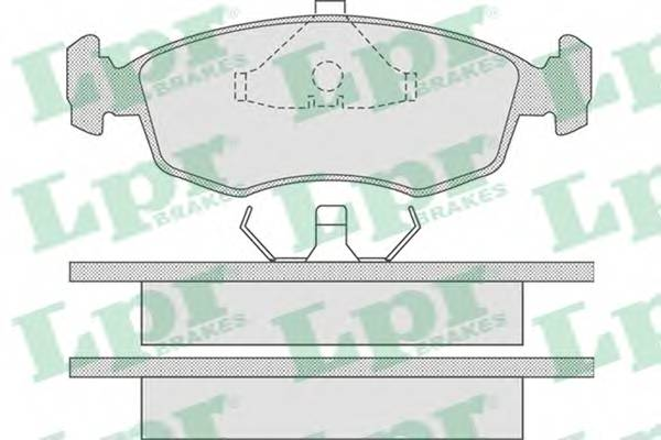 Тормозные колодки SF2393 Тормозные колодки PAGID арт. 05P678