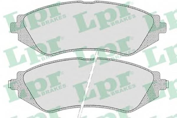 Тормозные колодки Тормозные колодки передние Lanos 1.6i ABE арт. 05P682