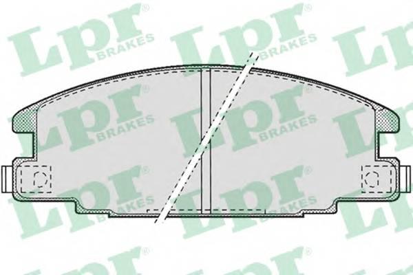 Тормозные колодки Тормозные колодки дисковые ABE арт. 05P685