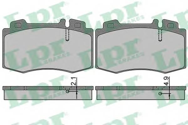Тормозные колодки Тормозные колодки дисковые PAGID арт. 05P849