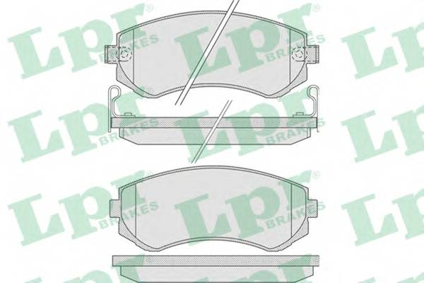 Тормозные колодки Тормозные колодки дисковые ABE арт. 05P856