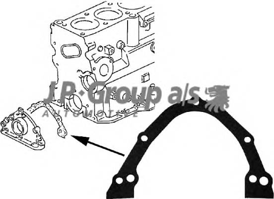 Прокладка, крышка картера (блок-картер двигателя) JPGROUP 1119100300